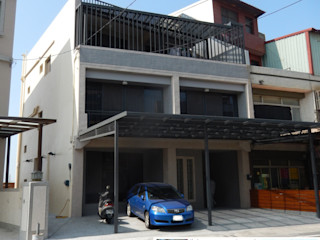 四十五年壁癌老屋變身日式人文宅 木博士團隊/動念室內設計制作 車庫/遮陽棚