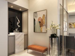 隱約奢華 低調時尚品味宅 木博士團隊/動念室內設計制作 現代風玄關、走廊與階梯