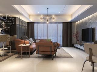 隱約奢華 低調時尚品味宅 木博士團隊/動念室內設計制作 现代客厅設計點子、靈感 & 圖片
