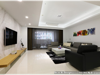 紓壓養身 深厚底蘊簡約休閒宅 木博士團隊/動念室內設計制作 现代客厅設計點子、靈感 & 圖片