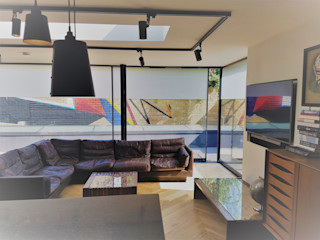 East Dulwich New Build PAD ARCHITECTS Modern living room
