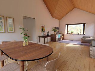 Ekeko Arquitectura Rustik Yemek Odası İşlenmiş Ahşap Beyaz