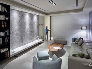 台中 - 大肚 禾廊室內設計 客廳 大理石