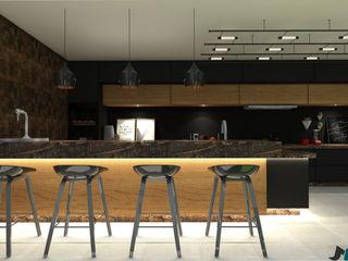 ITOARQUITETURA 陽台、門廊與露臺 家具 MDF Wood effect