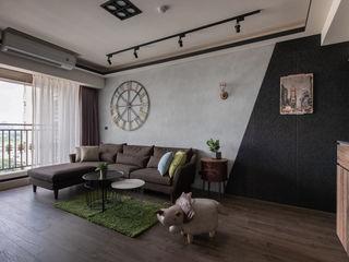澄月室內設計 Salones de estilo industrial