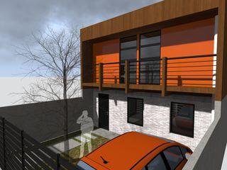 Vicente Espinoza M. - Arquitecto 一戸建て住宅 木 オレンジ
