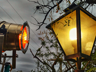 Lámpara Vintage Tipo Cine Deco Vieja Eddie Lamparas Vintage Vieja Eddie JardinesIluminación Hierro/Acero Multicolor