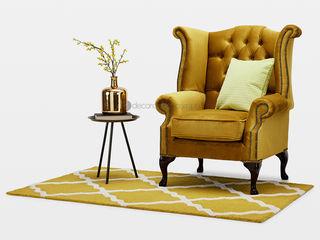 Decordesign Interiores ВітальняТабурети та стільці Текстильна Жовтий