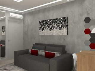 Bruna Ferraresi Modern living room Concrete Grey