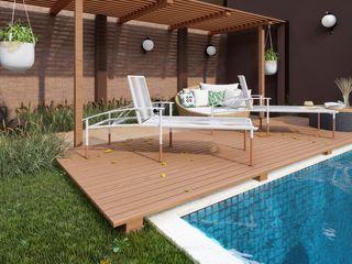 Studio MP Interiores مسبح حديقة خشب Wood effect