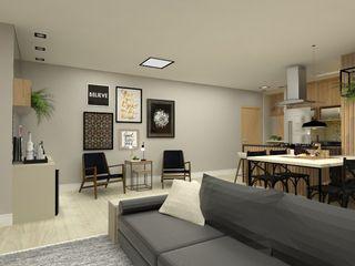Bruna Ferraresi Modern living room MDF Black