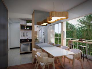 Studio MP Interiores غرفة السفرة MDF Wood effect