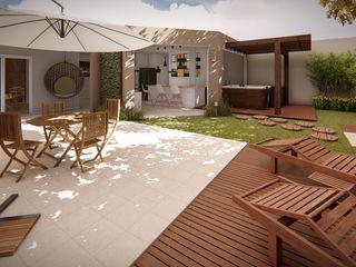 Studio MP Interiores حديقة Zen خشب Wood effect