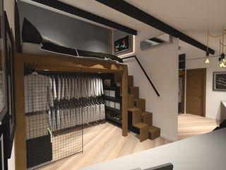 Dormitório masculino Cláudia Legonde Quartos industriais Madeira Preto