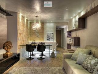 Andréa Spelzon Interiores 现代客厅設計點子、靈感 & 圖片