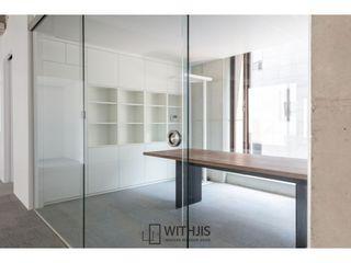 WITHJIS(위드지스) Escritórios Vidro Metalizado/Prateado