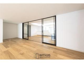 WITHJIS(위드지스) Salas de estar modernas Alumínio/Zinco Preto