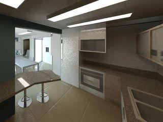 Grupo DH arquitetura Modern style kitchen Ceramic Beige