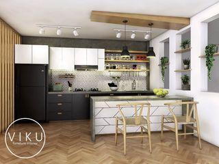 viku 廚房收納櫃與書櫃 木頭 White