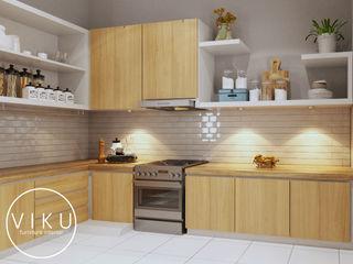 viku 廚房收納櫃與書櫃 木頭 Brown