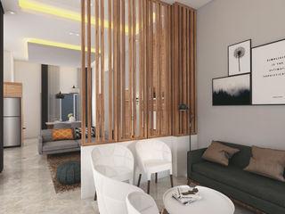 HUNIAN TROPIS PERUMAHAN CASA.ID ARCHITECTS Living roomAccessories & decoration Kayu Buatan Brown