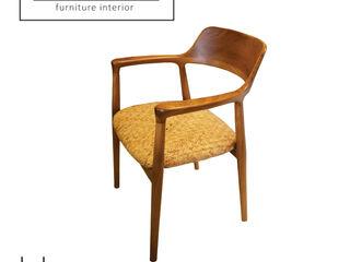 viku 餐廳椅子與長凳 木頭 Brown