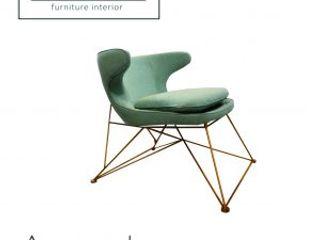 viku 餐廳椅子與長凳 布織品 Green