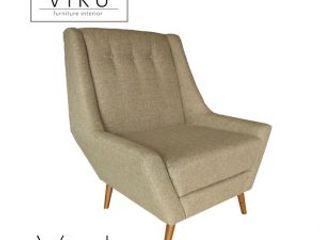 viku 餐廳椅子與長凳 布織品 Beige