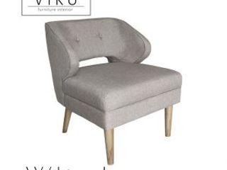 viku 餐廳椅子與長凳 布織品 Grey