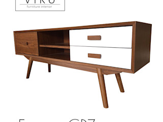 viku 客廳邊桌與托盤 木頭 Brown