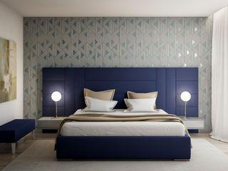 Alma Braguesa Furniture Modern Yatak Odası Orta Yoğunlukta Lifli Levha Rengarenk