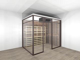 Wine Room Climatizzata ShoWine Cantina moderna Vetro Trasparente