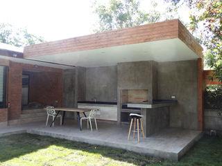 m2 estudio arquitectos - Santiago Balcones y terrazas de estilo minimalista Hormigón reforzado