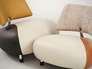 Pallone PA Armchair IQ Furniture SalonCanapés & Fauteuils Cuir Multicolore