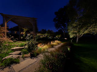 Surrey Garden Project Future Light Design 미니멀리스트 정원