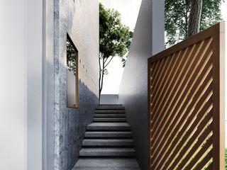 Studio Gritt Ingresso, Corridoio & Scale in stile moderno