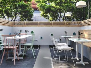 Studio Gritt Bar & Club in stile scandinavo Cemento Variopinto