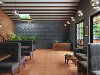 Studio Gritt Bar & Club in stile asiatico Legno massello Marrone