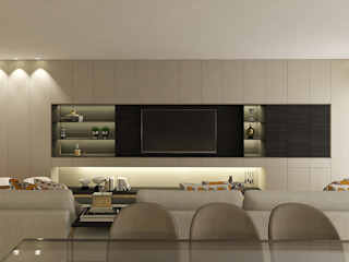 411 - Design e Arquitectura de Interiores ВітальняПолиці Бежевий