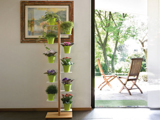 Le zie di Milano 花園植物盆栽與花瓶 實木