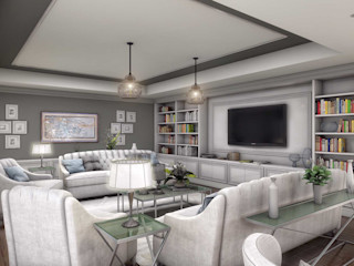 ANTE MİMARLIK Modern living room Grey