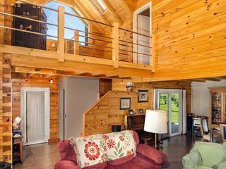 Patagonia Log Homes - Arquitectos - Neuquén ห้องนั่งเล่น ไม้จริง Wood effect