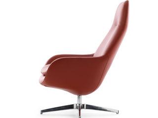 Leolux Pode Sparkle Armchair IQ Furniture SalonCanapés & Fauteuils Cuir Rouge
