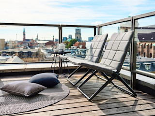 Traveller Folding Lounge Chair IQ Furniture JardinMeubles Textile Gris