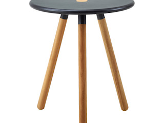 Area Stool/Table IQ Furniture JardinMeubles Bois Noir