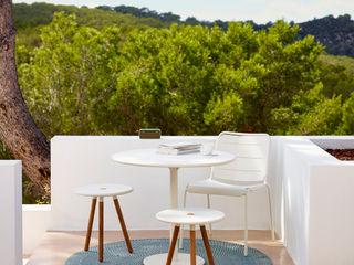 Area Stool/Table IQ Furniture JardinMeubles Bois composite Blanc