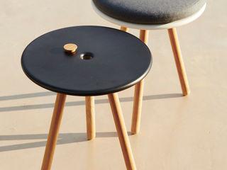 Area Stool/Table IQ Furniture JardinMeubles Bois composite Noir
