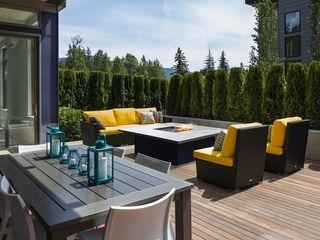 Grupo Cinco Chimeneas Balconies, verandas & terraces Furniture Iron/Steel Black