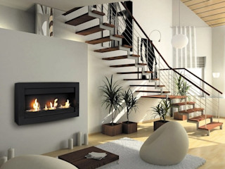 Grupo Cinco Chimeneas Living roomFireplaces & accessories Iron/Steel Black