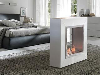 Grupo Cinco Chimeneas Living roomFireplaces & accessories Iron/Steel White